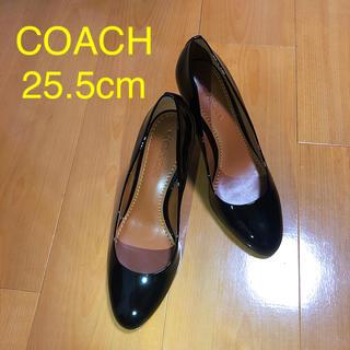 コーチ(COACH)のコーチ パンプス 黒 25.5cm(ハイヒール/パンプス)