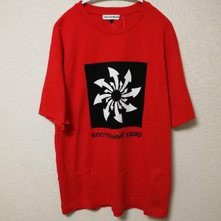 コムデギャルソン(COMME des GARCONS)のゴーシャラブチンスキー Gosha Rubchinskiy アロー Tシャツ 赤(Tシャツ/カットソー(半袖/袖なし))