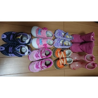 ディズニー(Disney)の女の子 靴7足セット♪13.5cm 14cm 15cm(スニーカー)
