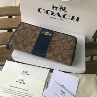コーチ(COACH)の♡美品 COACH(コーチ) 長財布 ♡F52859 ブルー(財布)