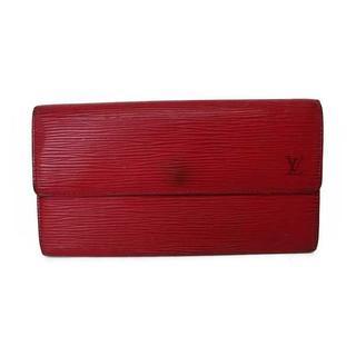 ルイヴィトン(LOUIS VUITTON)のルイヴィトン 長財布 財布 エピ ポルトフォイユサラ 赤 レッド エピライン(財布)