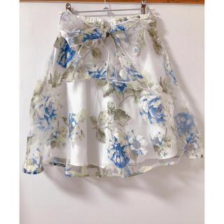 マーズ(MA*RS)のMA*RS オーガンジー花柄フレアースカート(ミニスカート)