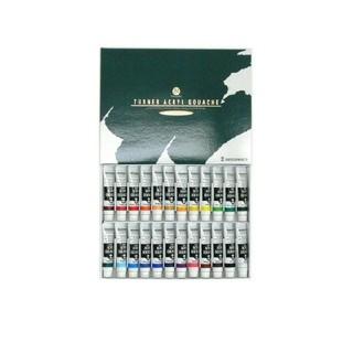 ターナー色彩 アクリルガッシュ 24色スクールセット AG24C 11ml(絵の具/ポスターカラー )