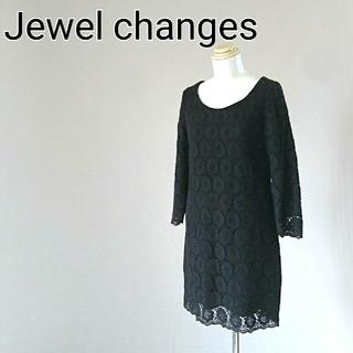 ジュエルチェンジズ(Jewel Changes)のJewel changes ジュエルチェンジズ ワンピース ブラック(ミニスカート)