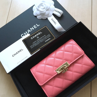 シャネル(CHANEL)の新品♡CHANEL 財布 ピンク 二つ折り シャネル マトラッセ キャビア 完売(財布)