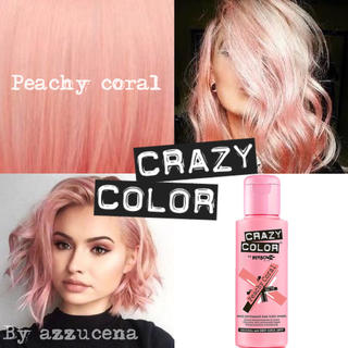Crazy color hair dye Peachy coral ♥(カラーリング剤)