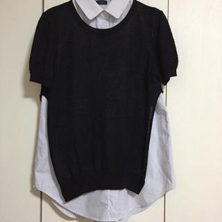 ジョゼフ(JOSEPH)のJOSEPH♡ニット付きシャツ M (シャツ/ブラウス(半袖/袖なし))