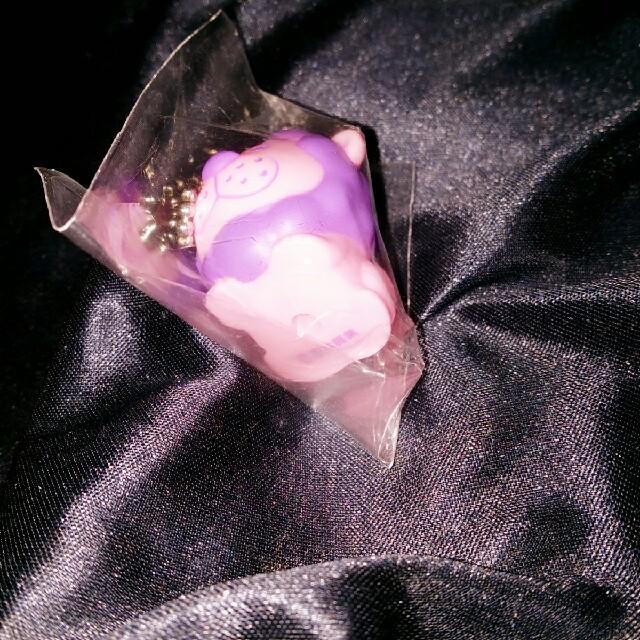 吉本興業 タカトシライオン ボールチェーン ピンク パープル エンタメ/ホビーのタレントグッズ(お笑い芸人)の商品写真