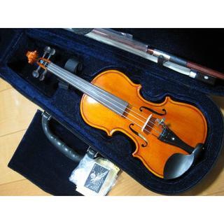 【虎杢美品1/16】バイオリン 1/16 新品付属品 松脂弓セット(ヴァイオリン)