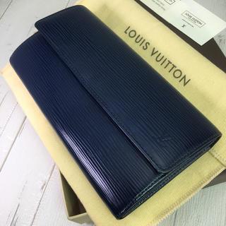 ルイヴィトン(LOUIS VUITTON)のルイヴィトン エピ 長財布 ミルティーユ(濃青) 美品 定価9.5万 保存袋あり(財布)