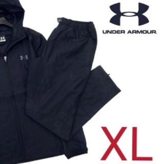 アンダーアーマー(UNDER ARMOUR)の【新品】アンダーアーマー UAストーム1フルジップセットアップ (黒)XL(ジャージ)