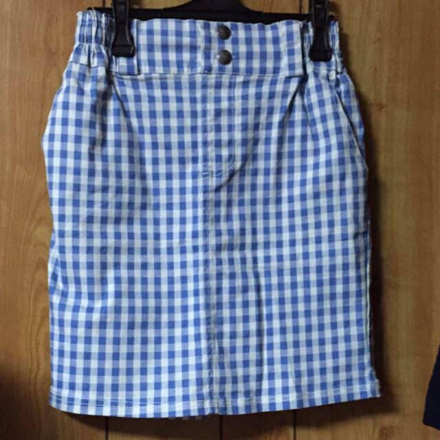 RayCassin(レイカズン)のレイカズン ギンガムタイトスカート レディースのスカート(ひざ丈スカート)の商品写真