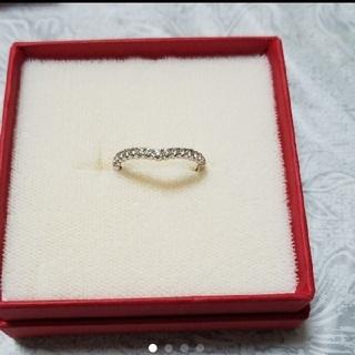 ジュエリーツツミ(JEWELRY TSUTSUMI)の鑑別書付き K14WG ダイヤモンド エタニティリング(リング(指輪))