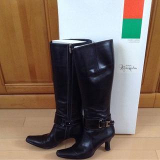ギンザカネマツ(GINZA Kanematsu)の[SALE]銀座かねまつ ロングブーツ 23.5cm 美品 2Way(ブーツ)