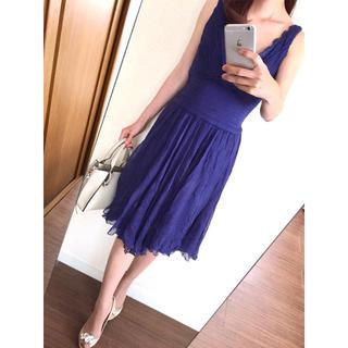 TADASHI SHOJI - 【美品】シルク100%♡タダシショージ♡サイズ2 胸元ビジューワンピース♪