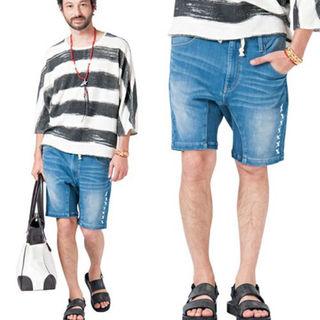 グラム(glamb)の予約販売セール商品 glamb Cygnus easy denim shorts(ショートパンツ)