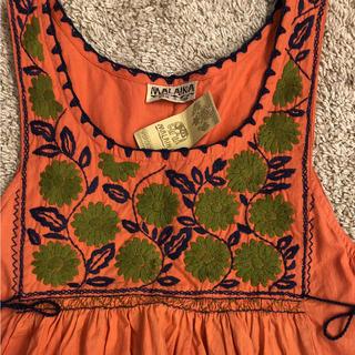 マライカ(MALAIKA)のマライカ  刺繍  ワンピース  ノースリーブ(ロングワンピース/マキシワンピース)