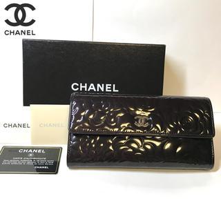 シャネル(CHANEL)の超美品✨CHANEL カメリア 長財布(財布)