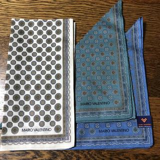 マリオバレンチノ(MARIO VALENTINO)のMARIO VALENTINO ハンカチ3枚セット(ハンカチ/ポケットチーフ)