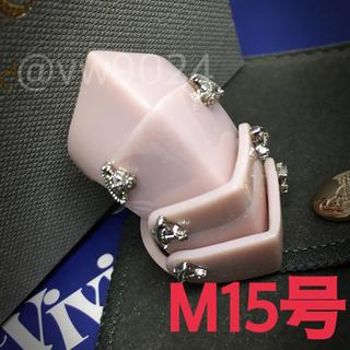 ヴィヴィアンウエストウッド(Vivienne Westwood)のレジンアーマーリング  ベビーピンク Mサイズ 15号(リング(指輪))