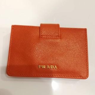 プラダ(PRADA)の[3%OFFチャンス][新品未使用] pradaカードケース レザー(名刺入れ/定期入れ)