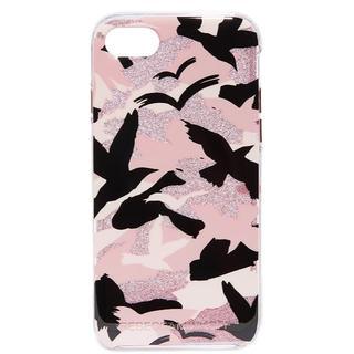 レベッカミンコフ(Rebecca Minkoff)のレベッカミンコフ iPhone7ケース Camo Bird ピンク 迷彩(iPhoneケース)