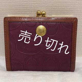 コーチ(COACH)のコーチ シグネチャー がま口 折財布(財布)