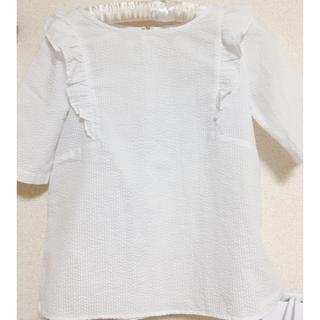 エヌナチュラルビューティーベーシック(N.Natural beauty basic)のフリル付きブラウス(シャツ/ブラウス(半袖/袖なし))