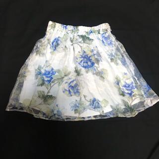 マーズ(MA*RS)のMARS 花柄 オーガンジー スカート(ひざ丈スカート)
