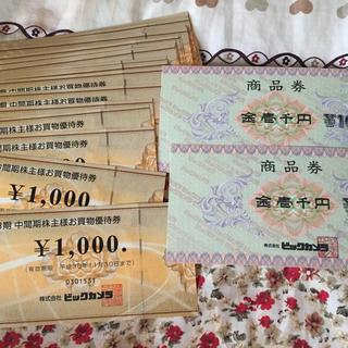 ビックカメラ 株主優待券108枚(ショッピング)