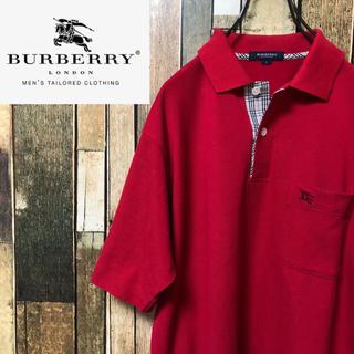 バーバリーブラックレーベル(BURBERRY BLACK LABEL)の【激レア】バーバリー☆バーバリーチェック入りワンポイントポケットポロシャツ(ポロシャツ)