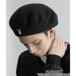プレイボーイ(PLAYBOY)のPLAYBOY ベレー帽 ブラック(ハンチング/ベレー帽)