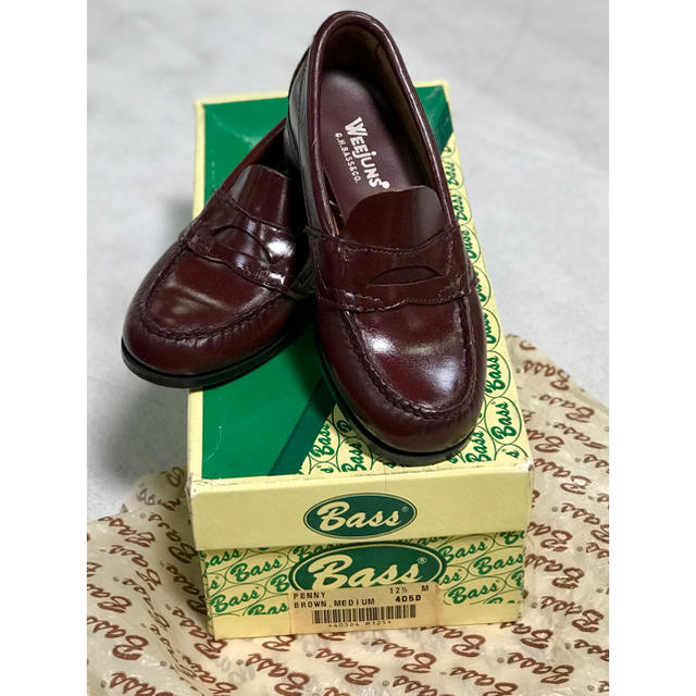 G.H.BASS(ジーエイチバス)の<希少価値>ビンテージ 1980年代 Bass ペニーローファー 子供用(2) キッズ/ベビー/マタニティのキッズ靴/シューズ (15cm~)(ローファー)の商品写真
