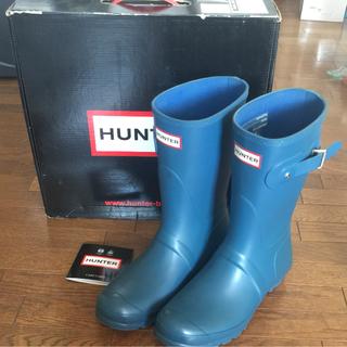 ハンター(HUNTER)のHUNTER メンズ オリジナル ショート(ブルー)(長靴/レインシューズ)