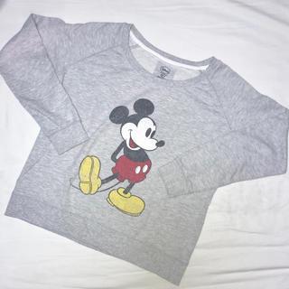 ディズニー(Disney)のミッキー スウェット プルオーバー 長袖(トレーナー/スウェット)