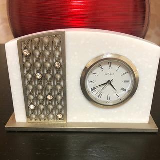 ワコウドウ(和光堂)の和光 人工大理石とスワロフスキーの置時計 ミニ(置時計)
