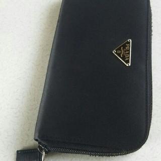 プラダ(PRADA)の週末値下げ💴⤵PRADA🌟男女兼用🌟黒ラウンドジップ(財布)