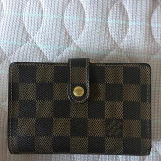 ルイヴィトン(LOUIS VUITTON)のルイヴィトンダミエ がま口財布 折りたたみ財布(折り財布)