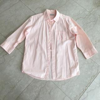 ジーユー(GU)のメンズ  ピンクシャツ(シャツ)