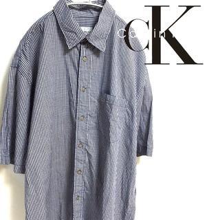 カルバンクライン(Calvin Klein)のCalvin Klein カルバンクライン ギンガムチェック 半袖シャツ 古着(シャツ)