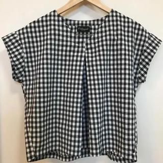 オールオーディナリーズ(ALL ORDINARIES)のordinaries ギンガムチェックシャツ(シャツ/ブラウス(半袖/袖なし))