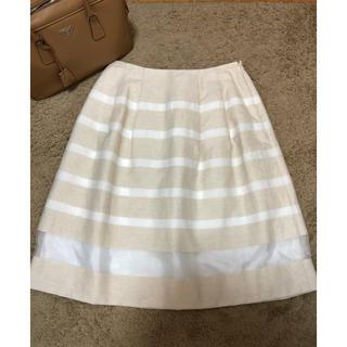 アマカ(AMACA)のAMACA アマカ ボーダーフレアースカート(ひざ丈スカート)
