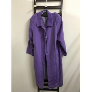 RIPPLES カシミア100% ロングコート 紫(ロングコート)
