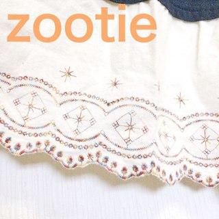 ズーティー(Zootie)の刺繍入りペチコート(ひざ丈ワンピース)