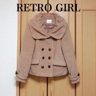 レトロガール(RETRO GIRL)の【新品】ピンクベージュ コート(ピーコート)