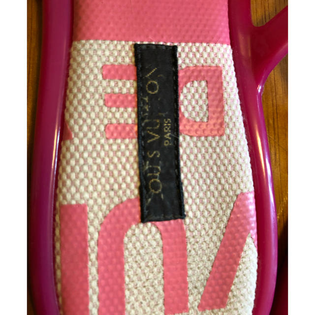 LOUIS VUITTON(ルイヴィトン)のルイヴィトン☆LOUIS VUITTON☆ビーチサンダル☆37☆ピンク レディースの靴/シューズ(サンダル)の商品写真