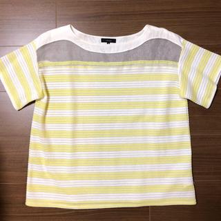 セブンアイディコンセプト(7-Idconcept.)のボーダー サマーニットTシャツ(Tシャツ(半袖/袖なし))