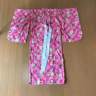 シマムラ(しまむら)のキッズ 浴衣 110cm   ピンク  兵児帯付き(甚平/浴衣)