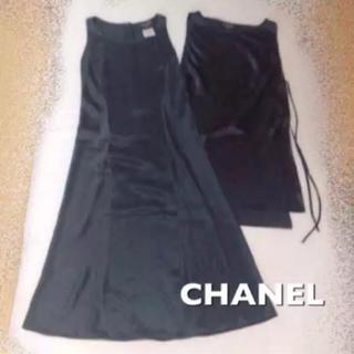 シャネル(CHANEL)の【美品】正規品 CHANEL シルク 100% ワンピース セット 38(その他)
