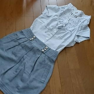 ナラカミーチェ(NARACAMICIE)のレースカラーシャツ&ノースリーブシャツ2点セット(シャツ/ブラウス(半袖/袖なし))